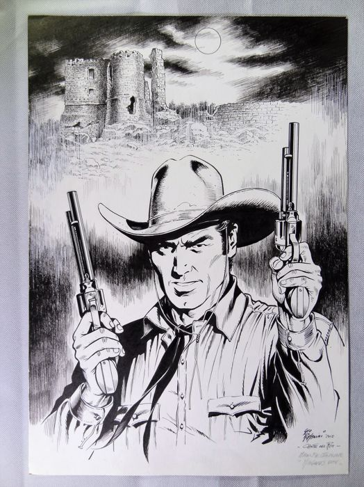 "Tex - Romanini - original artwork ""Castel del Rio"" - Loose page - (2012)"