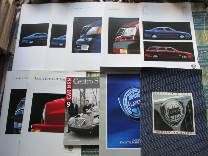 Brochuras / Catálogos - Lancia - including Thesis book - 1988-1998