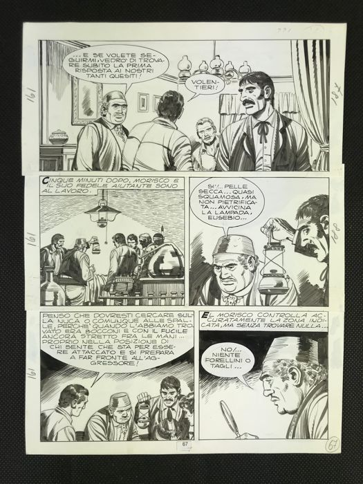 Tex #161 - original page - Il Fiore della Morte - Loose page - First edition