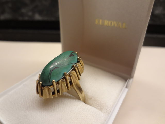 Türkies Mineral Vintage Damen 8kt AK - Ring - Gold - 8 ct - Turquoise mineral