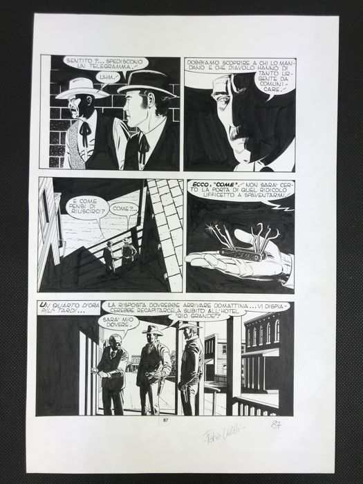 Tex #383 - Civitelli - original page - Loose page - First edition - (1992)