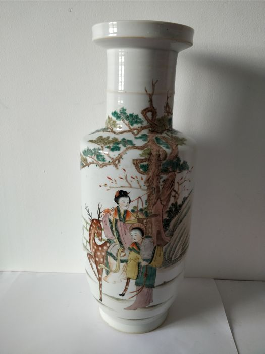 Vase - Familie rose - Porzellan - China - Datiert 1956