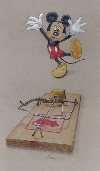 Miguel Angel Alfaro Rey - Dibujo original - Lucky Mouse - (2018)