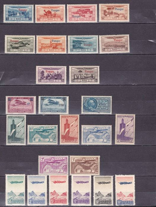 Morocco 1922/2006 - Complete surface mail and Airmail sets