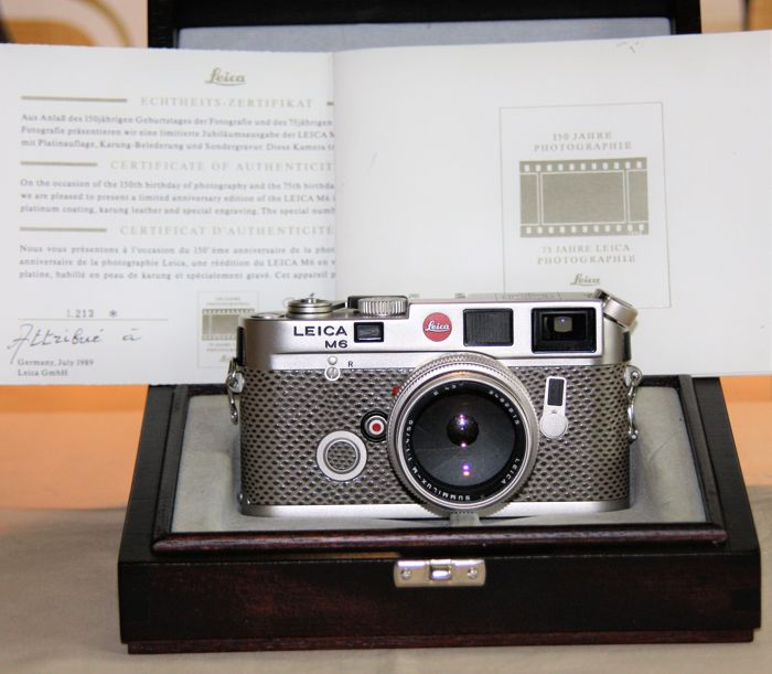 LEICA M6 Platinum 150 years - Catawiki