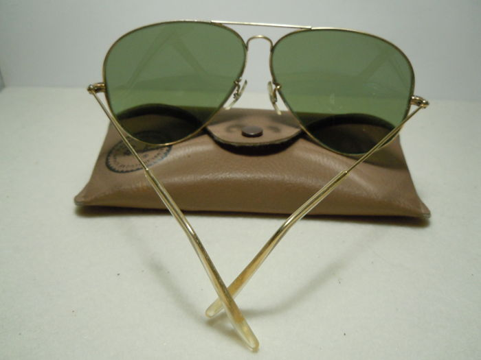 e383ac78d3d Ray-Ban - Aviator Lic. 10K GO Cal. 62 Lenses RB2 By B L Vintage anni ...