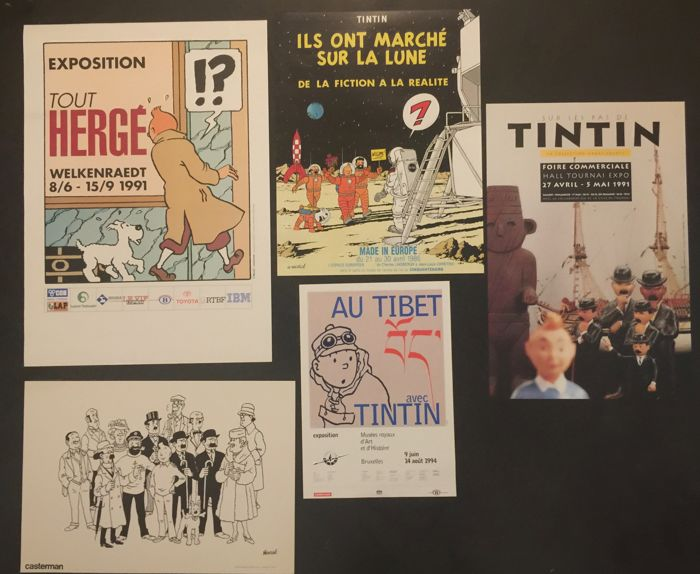 Tintin - 5x affiches