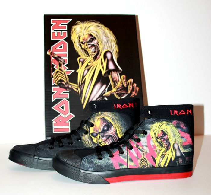 Iron Maiden Official Killers Shoes Mib The Book Of Souls