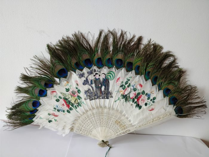 Feather fan - China - 19th century