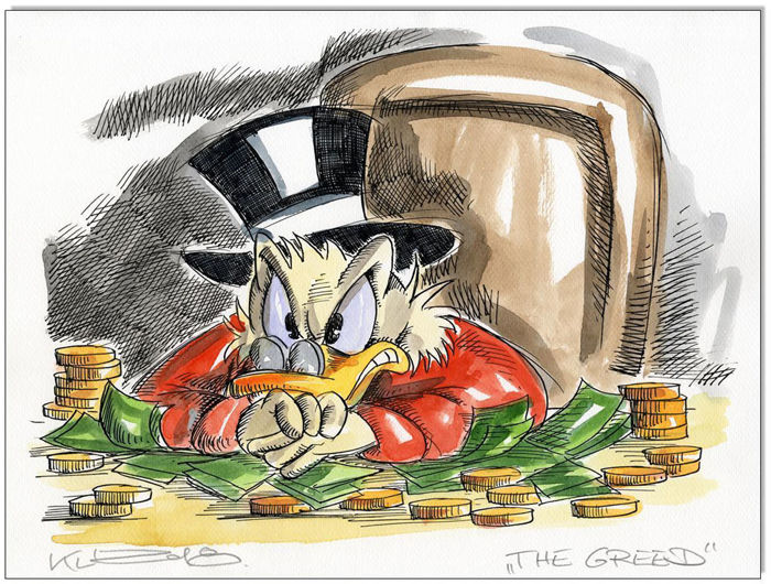 Donald Duck - Uncle Scrooge - The Greed - Unicum