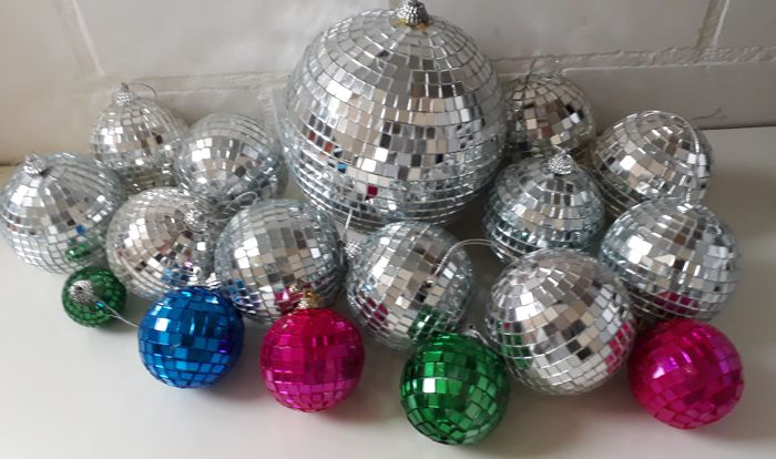 collection of Christmas balls - 17 - mirror glass