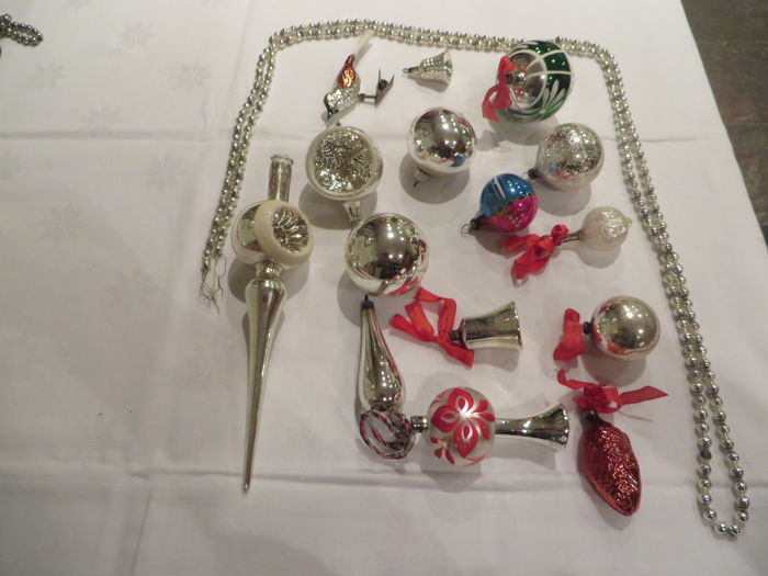 antique Christmas tree ornaments - 16 - Glass