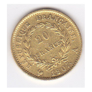France - 20 Francs 1807-A Napoleon Empereur - Or