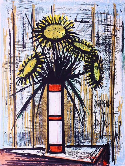 Bernard Buffet - Bouquet de Tournesols