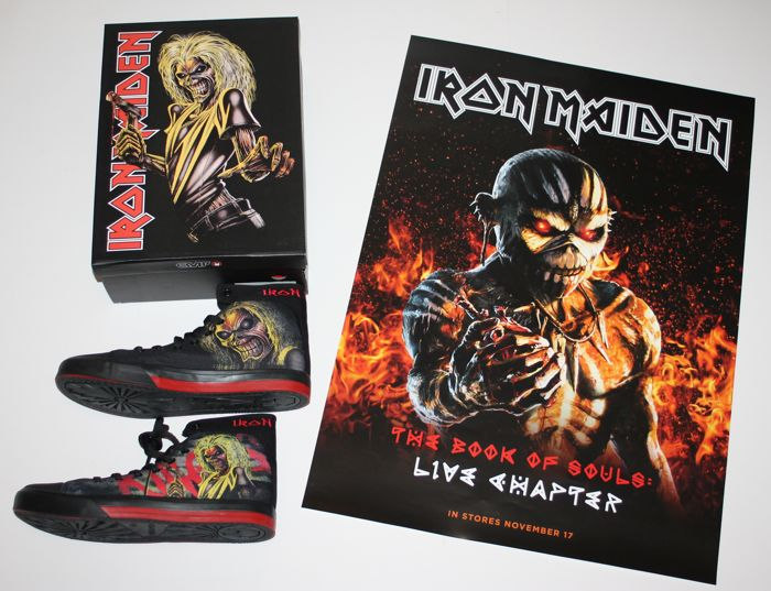 Iron Maiden Official Killers Shoes Mib The Book Of Souls Instore Promo Poster Catawiki