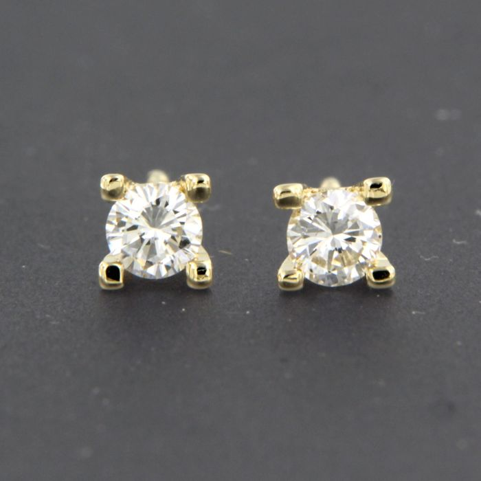 Earrings - Gold - 0.38 ct - Diamond