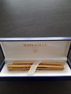 Waterman - Fountain pen + ballpoint pen - Complete collection of 1