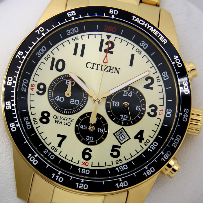 "Citizen - Chronograph ""All Gold"" - New - ""NO RESERVE PRICE"" - Hombre - 2017"