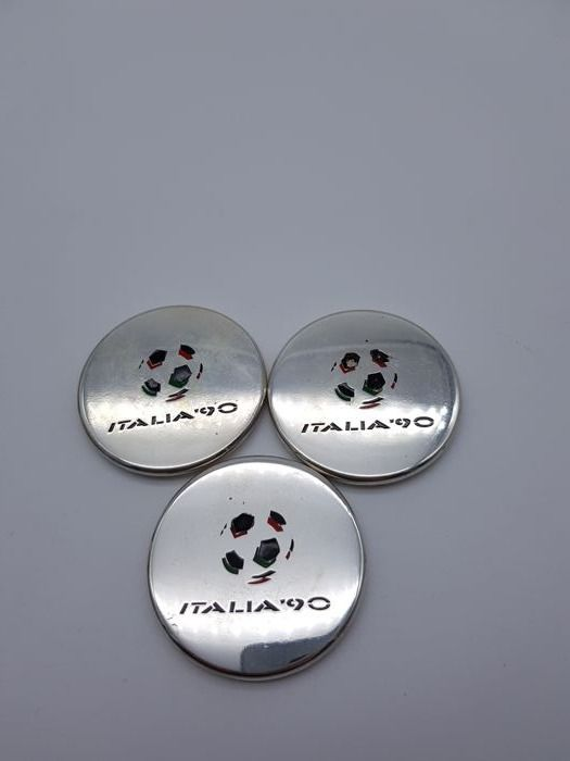Extremely rare silver 925 official Italia '90 Championship ingots