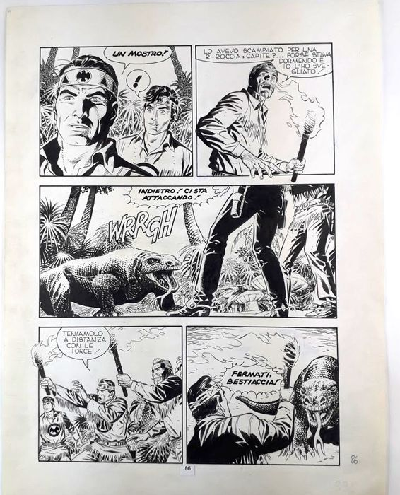 Tex #349 - Civitelli - original page - Loose page - First edition - (1989)