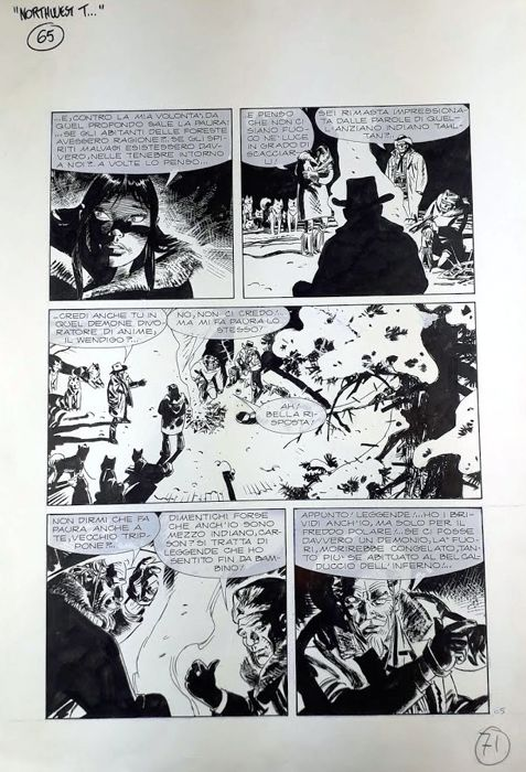 Tex Maxi #5 - A. Font - original page - Loose page - First edition