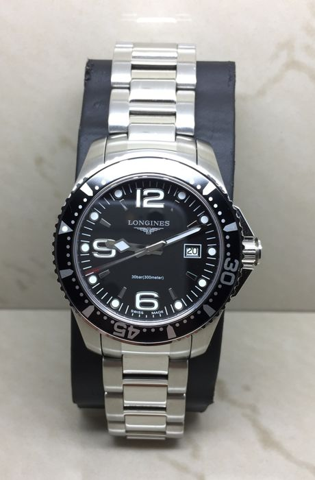 "Longines - HydroConquest Swiss Black Dial ""NO RESERVE PRICE"" - L3.640.4 - Férfi - 2000-2010"