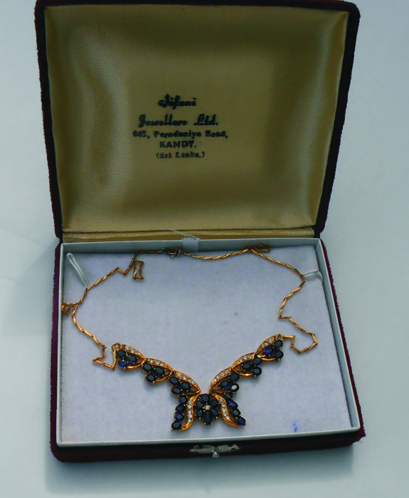 Other - 14 kt. Yellow gold - Necklace Sapphire