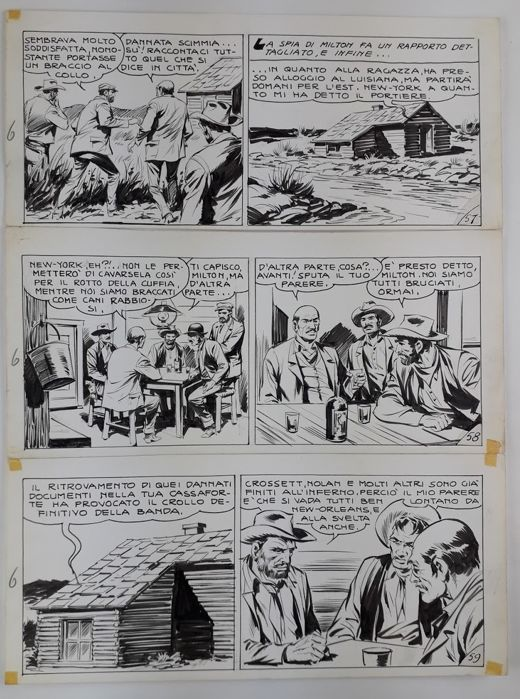 "Tex - Galep - original page ""L'asso di picche"" - Loose page - First edition"