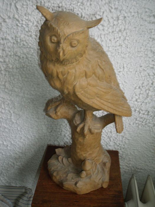 Owl carvings wood catawiki