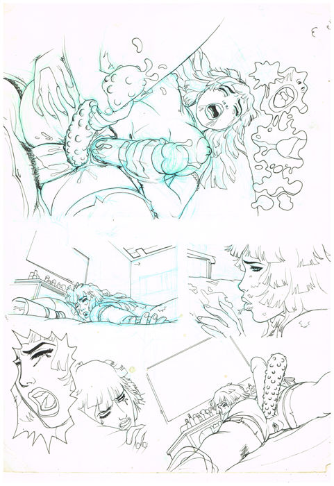 Gambedotti, Atilio - Original page - 4 Girlfriends Vol. 1 / Les 4 amies T.1  - (2008)