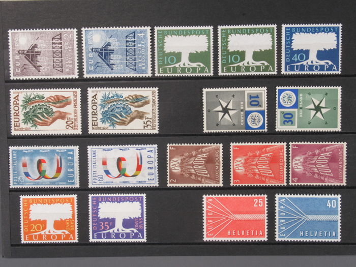 Europe 1957 - CEPT - complete year 1957, 10 of each