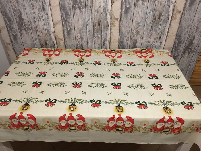 Antique Christmas Tablecloth - Unknown