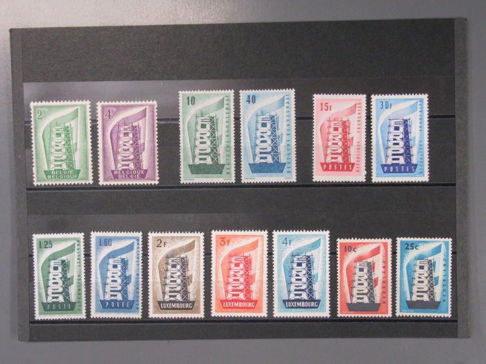 Europe 1958 - CEPT year 1956, 1957, 1958, complete**