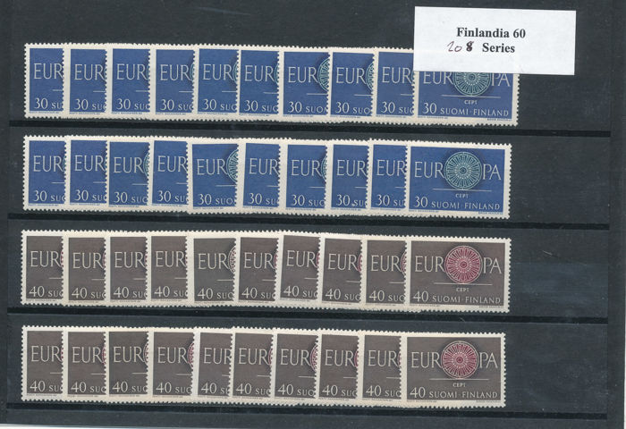 Europe 1960/1987 - CEPT: Northern Europe, 25 stock cards, 445 series