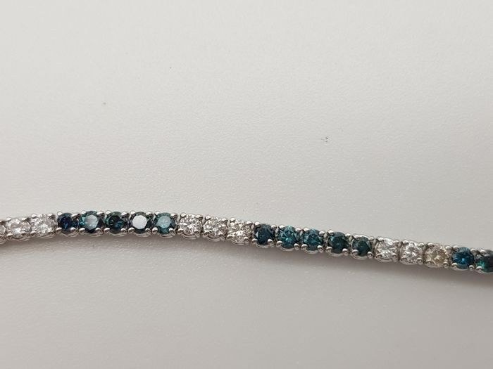Bracelet - Gold, White gold - Commonly treated - 1.2 ct - Diamond and Diamond