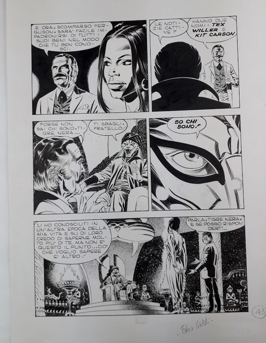Tex #443 - Civitelli - original page - Loose page - First edition - (1997)