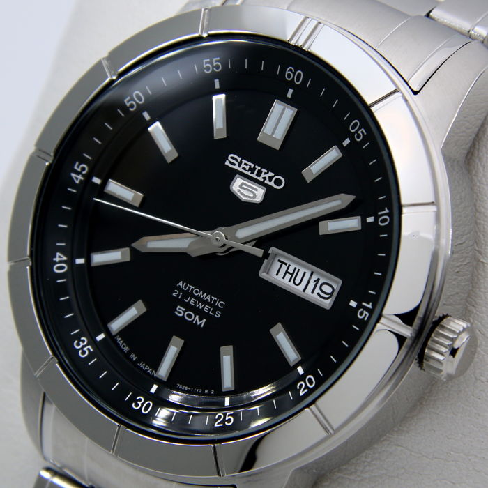 """Seiko - Automatic 21 Jewels Made in Japan """"Black"""" - New - Men - 2018"""