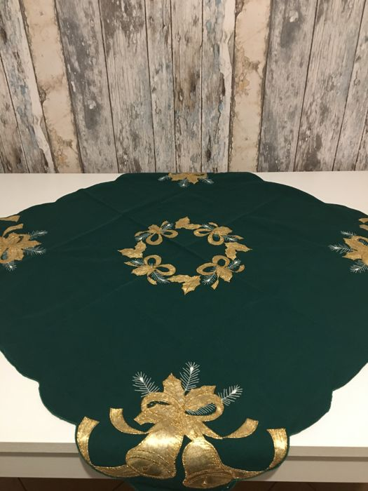 Two Christmas shiny tablecloths / table runners - Pair - Unknown