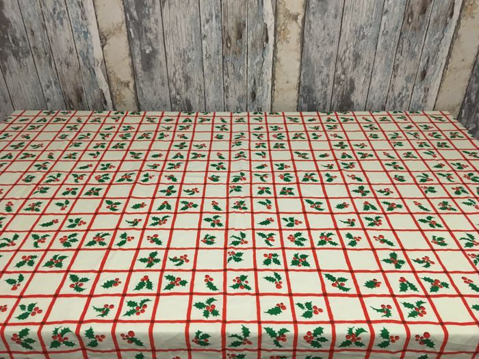 Vintage Christmas Tablecloth - Unknown