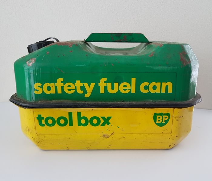 Safety fuel can / tool box - BP - 1970-1970