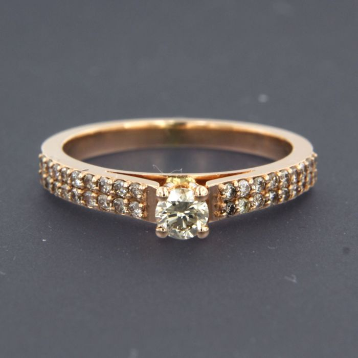Ring - Pink gold - 0.52 ct - Diamond