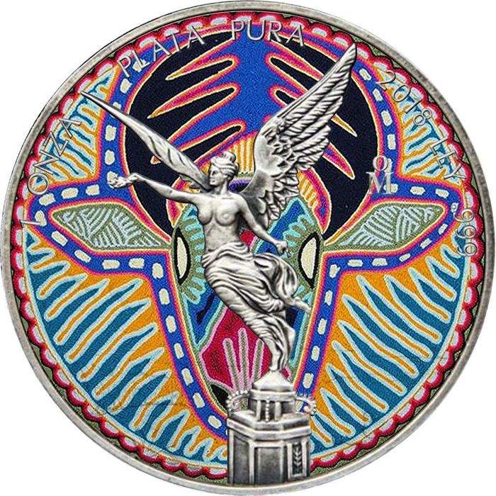 Mexico - 1 Onza 2018 - Libertad Huichol 20 Antique Finish - 1 Oz - Silver