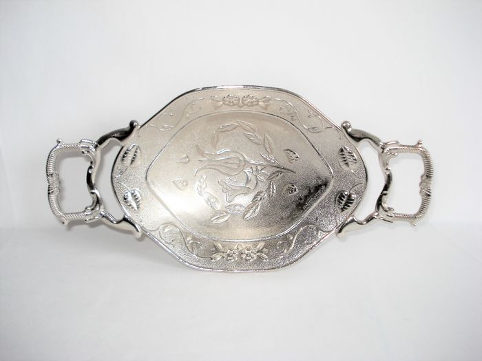 Rozenschaaltje: Bonbon / Cookies or fruit bowl. - Rare point-like object. of 1 - Silver plated - Onbekend maker. niet gemerkt of gekeurd. - France - 1910