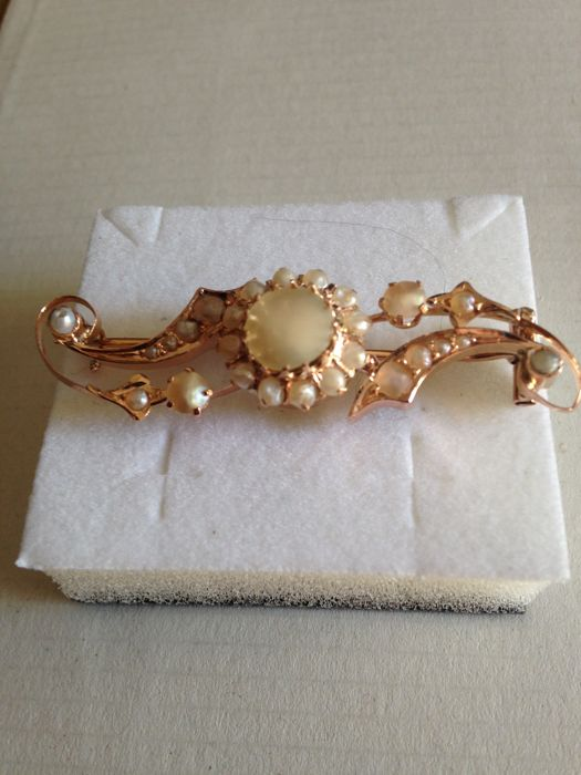 Brooch - Gold - Natural (untreated) - Mixed