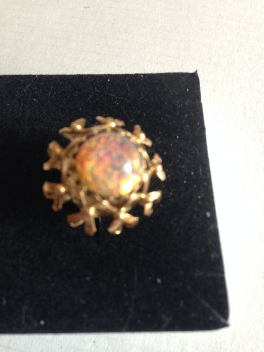 Pendant - Gold - Natural (untreated) - Opal
