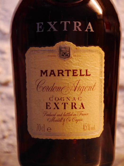 Cognac Martell Cordon Argent Extra from the 1980s/90s- 1 bottle