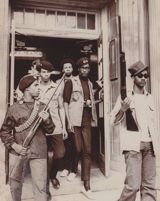 Unknown/AP - Black Panthers leave Omaha Police station, 1969