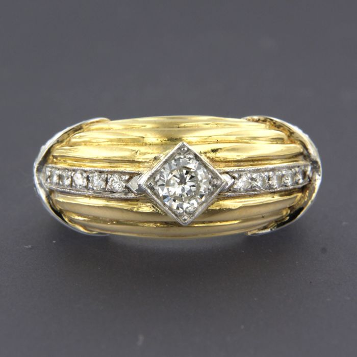 Anillo - Oro, Oro blanco - 0.8 ct - Diamante