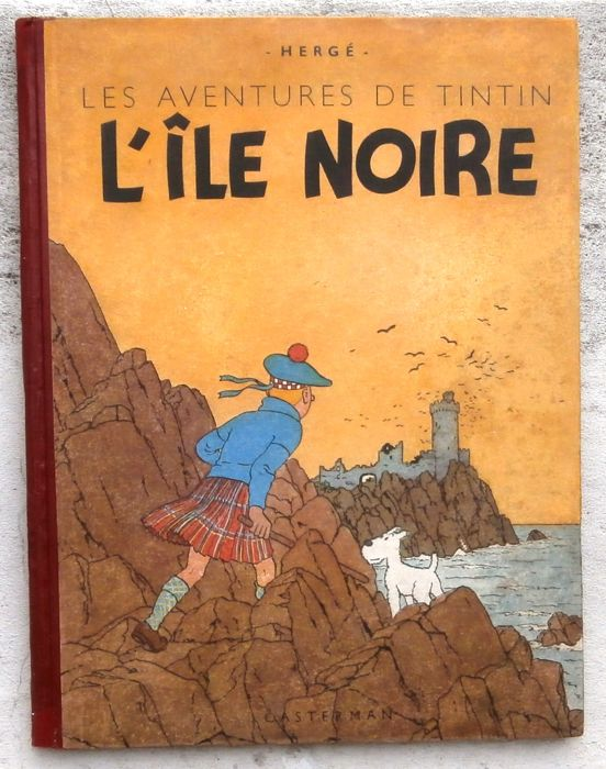 Tintin T7 - L'Île Noire (A20) - Hardcover - First edition - (1943)