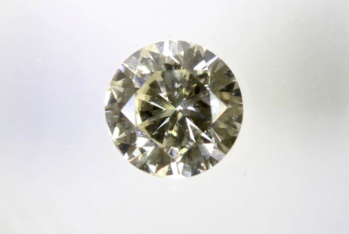Diamante - 0.49 ct - Brillante - N (coloreado) - No Reserve Price, VS1
